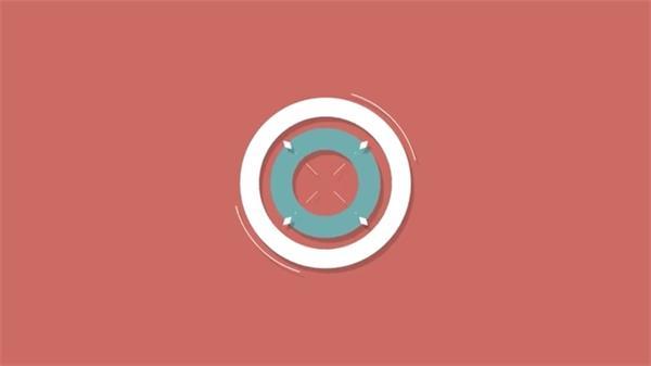 AE模板 扁平化创意模糊演绎LOGO标志模版 AE素材