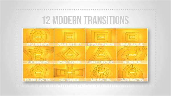 AE模板 新颖兴趣多外形回型腻滑淡出图文展现模版 AE素材