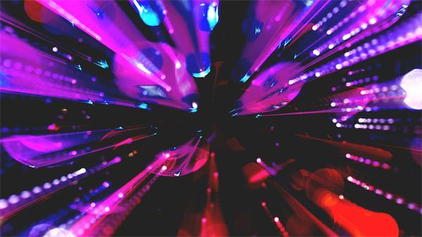 快速闪烁多彩光效条形夜场酒吧灯光背景屏幕视频素材