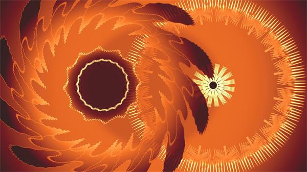 [4K]橙棕色花纹转轮变换迷乱层叠视觉花朵旋转高清视频素材