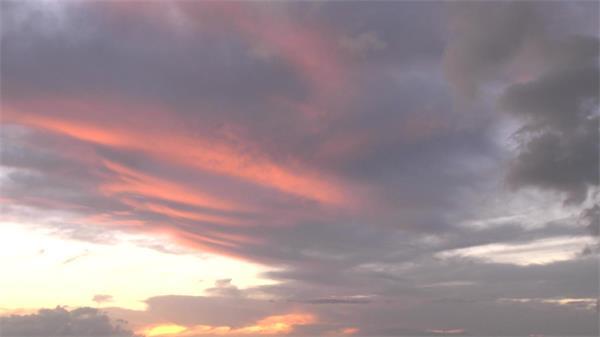 红色晚霞落日海景水面波浪实拍高清视频素材