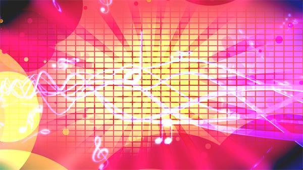 多彩缤纷电音流行音乐方格排布线条LED背景视频素材