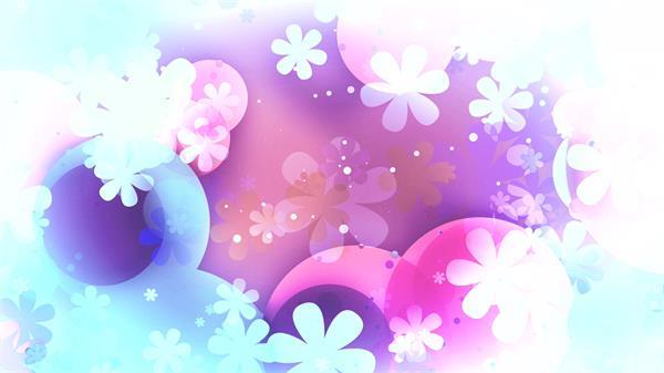复古梦幻错乱花朵圆形相互交错美轮美奂相册婚礼视频素材
