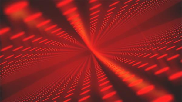 超强空间感圆光点规律排列红色光效渲染背景视频素材