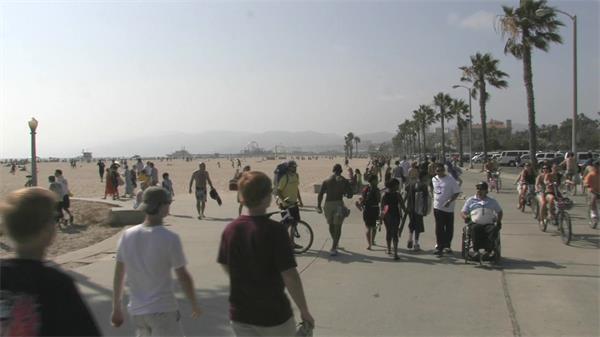 沙岸金光灿灿风起沙涌实拍高清视频素材
