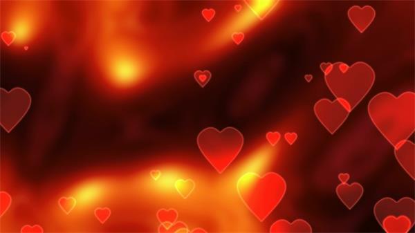 鲜红浪漫爱心婚礼婚庆动态LED背景视频素材