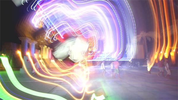 炫酷潮流魔幻光线跳动光束震撼画面视觉效果视频素材