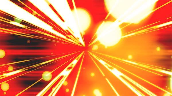 炫丽条形光效视觉冲击粒子飘浮进入隧道效果视频素材