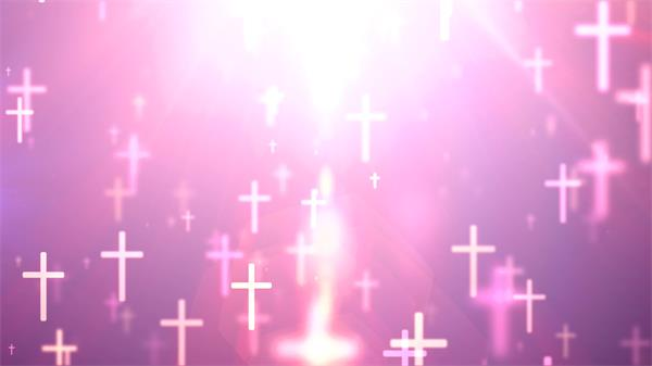 简洁炫光空间十字符号梦幻展现相互交错背景视频素材