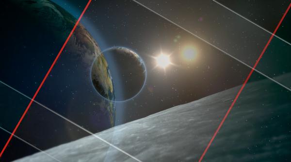 宇宙星空玻璃星光阳光与地球间距银河系视频素材(带通道)