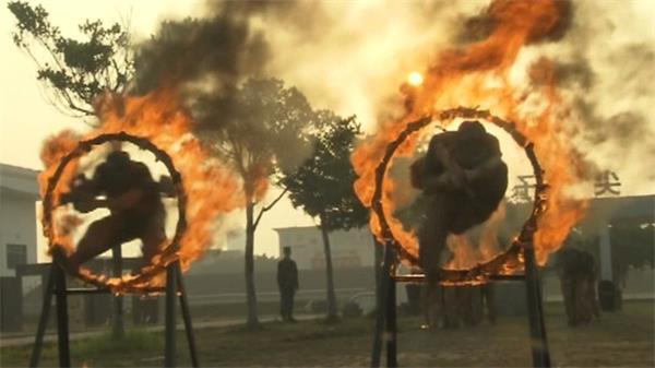 猎人战斗滑降射击爬低桩网军事战术训练实拍高清视频素材