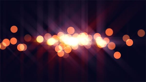 炫光橙色圆圈光斑空中循环浮动动态LED背景视频素材