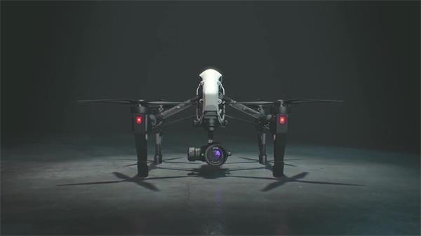 AE模板 炫酷模型四轴飞行无人机拍摄分屏视频制作模版 AE素材