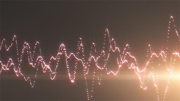 动感亮丽声波波纹动荡炫光烘托光效粒子视频素材