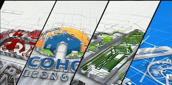 AE模板 典雅科技��g�O��D�空�g搭建LOGO�苏I模版 AE素材