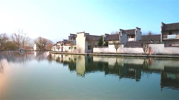 典雅傳統文化古老城鎮氣味建筑風景歷史遺留高清視頻動畫