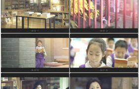 小学生认真读书学习互动校园学习氛围学校宣传片高清视频实拍