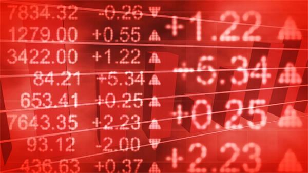 财经数字股市指数飙升上涨动态LED背景视频素材