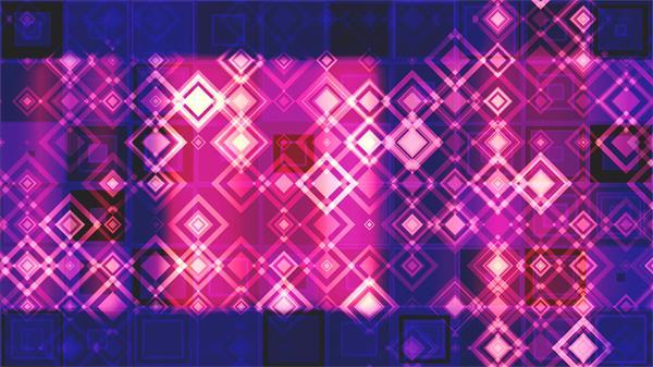 梦幻壮丽四边形菱形规律排布变更跳动LED舞台背景视频素材
