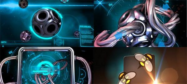 AE模板 科幻高新技术微电线光效耀斑机械化完美展现模版 AE素材