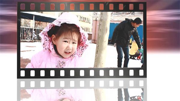 会声会影X6模板 超炫电影卷轴儿童照片回忆记录电子相册模板