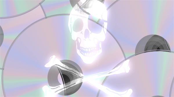 光盘层叠旋转支持正版音乐拒绝盗版音乐光盘背景视频素材