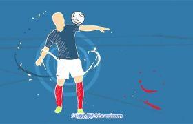AE模板 动感美观人物动画过渡切换足球电视栏目宣传片模板 AE素材