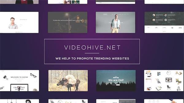 AE模板 高雅现代扁平化公司企业网站网页介绍幻灯片模板 AE素材