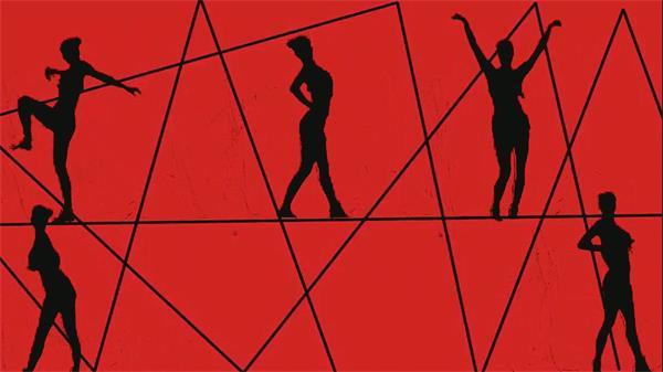 创意共同收场素材VJ秀舞蹈蹈劲舞人屏互动LED舞台配景视频素材