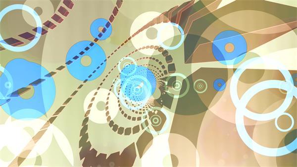 科技四边形圆圈围绕旋转光效半圆遮罩错乱视觉背景视频素材