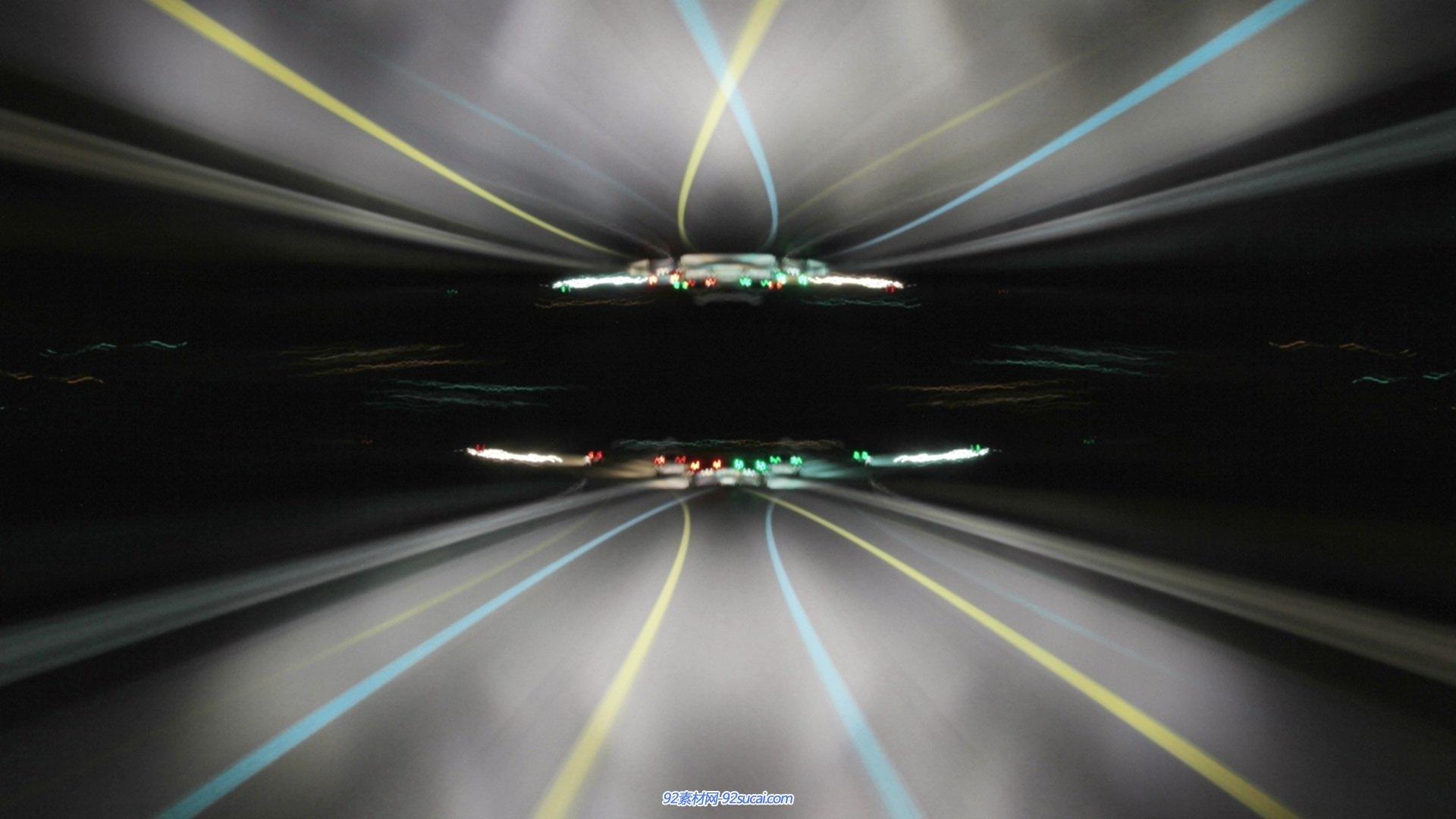 超速穿越时光隧道爆闪动态led背景视频素材