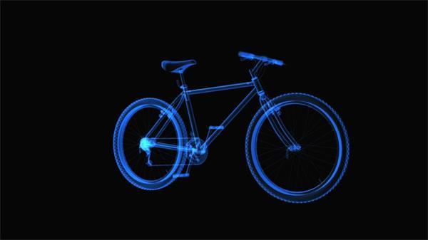 360度旋转蓝光透视自行?#21040;?#26500;构造动态LED背景视频素材