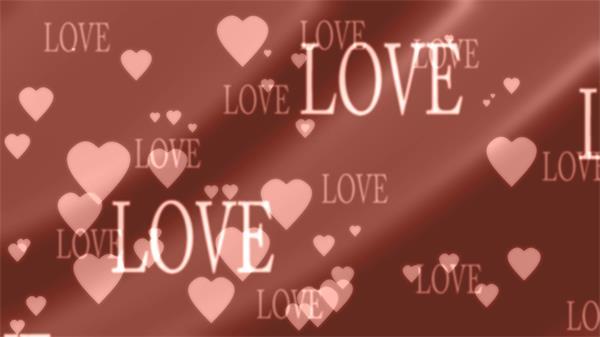 温馨浪漫婚礼求婚屏幕配景LOVE爱心挪动变革舞台配景视频素材