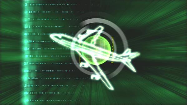 现代科技技术飞行雷达探测虚幻飞机飞行数据移动视频素材