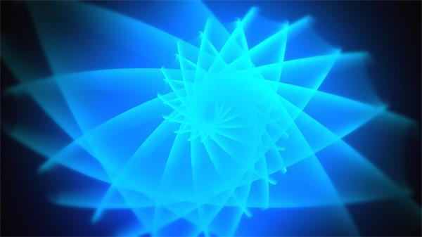 唯美梦幻蓝光螺旋旋转动态LED背景视频广告素材