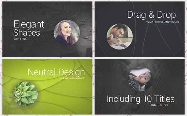 AE模板 简便优雅光滑油滑商务企业线性层叠遮罩归纳幻灯片模板 AE素材
