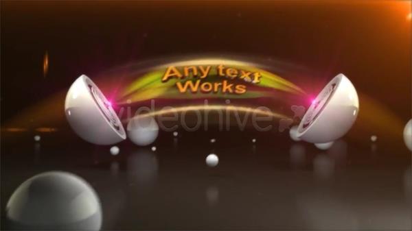 AE模板 三维球体分离演绎字幕标题LOGO标志模板 AE素材