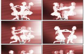 生动舞蹈女孩旋转游玩LED静态配景视频素材