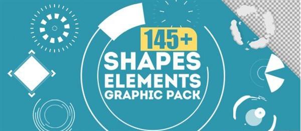 [4K]145款动感华丽烟火特效转场过渡特效形状元素包装视频素材
