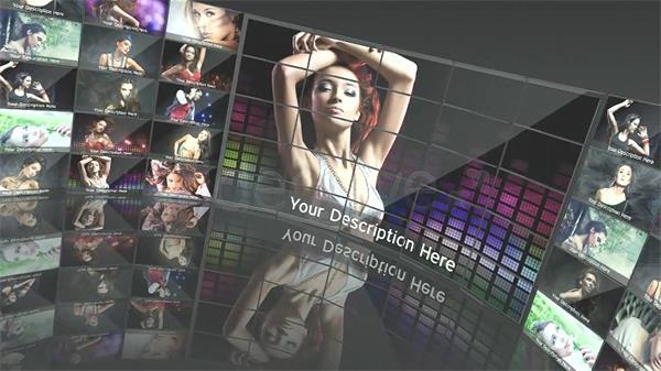 AE模板 炫酷活力多屏舞台展示旋转切换电子相册揭示模板 AE素材
