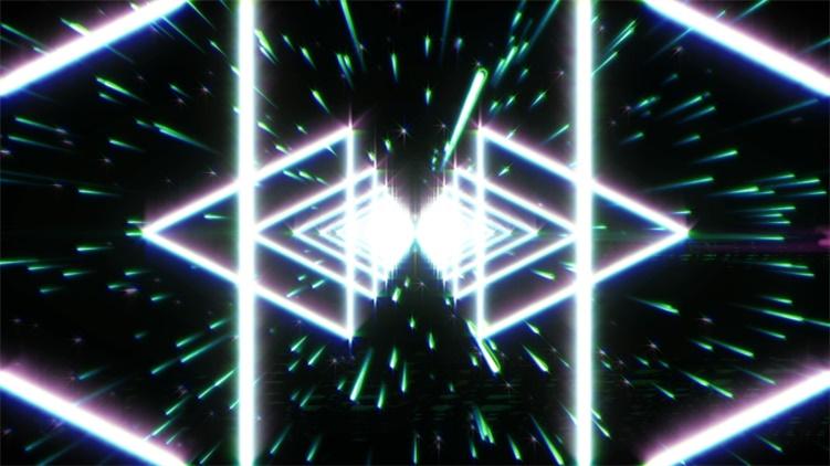动感大气夜场酒吧舞台炫光三角形led夜场背景视频素材