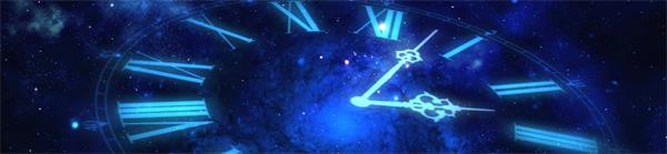藍色熒光羅馬數字表盤指針旋轉LED動態背景視頻素材