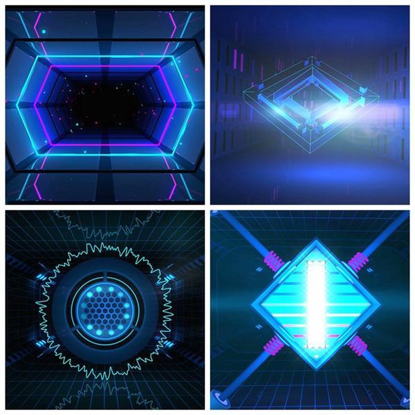 動感炫光科技感酒吧合集夜店LED動態背景視頻素材