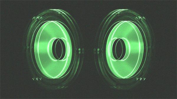 震动透视数码音箱节奏变幻派对夜场LED屏幕背景视频素材