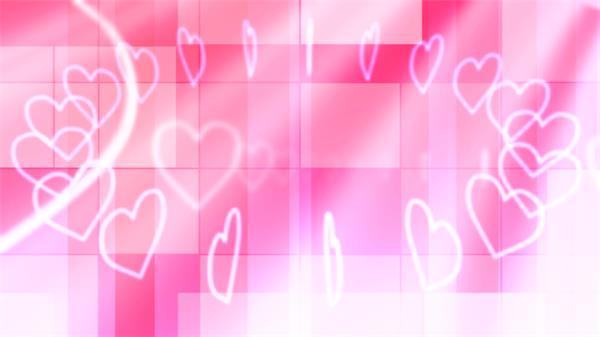 浪漫环形粉红爱心排列缩放旋转LED动态背景视频素材