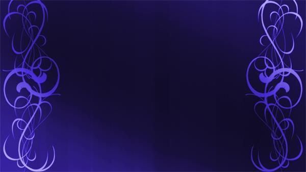 唯美梦幻循环花边描绘LED动态背景视频素材