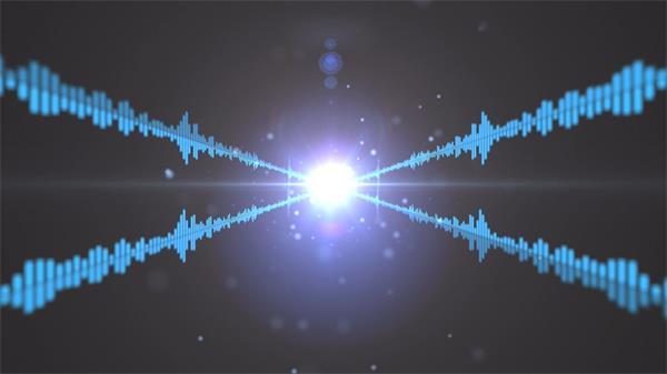 动感电波耀眼光斑散发光芒粒子LED动态背景视频素材