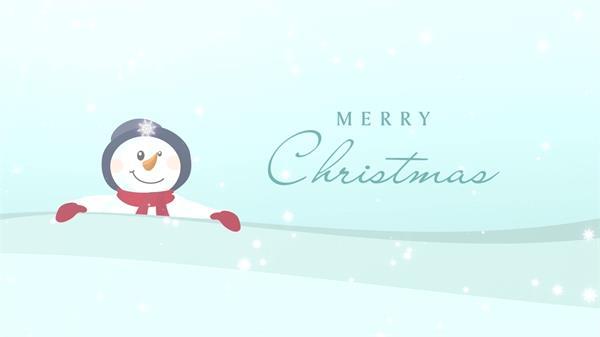 圣诞节雪花飘落电子贺卡LED动态背景视频素材