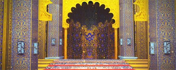 印度风堂而皇之闪光粒子LED静态配景视频素材