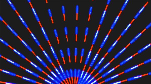 扇形七彩光斑粒子循環閃爍LED動態背景視頻素材